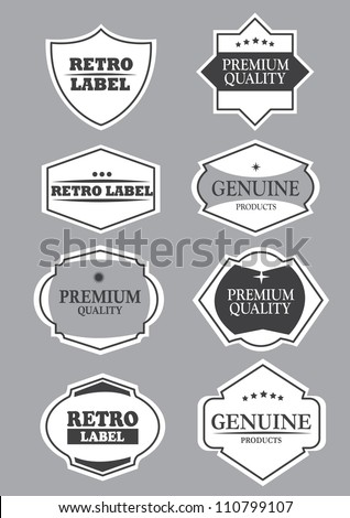 Vector vintage decorative design elements with different shapes and messages