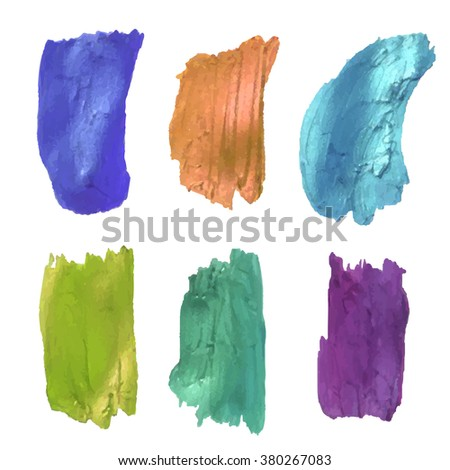 vector watercolor brush strokes