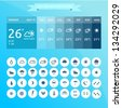 Vector weather icons and widget elements - stock vector