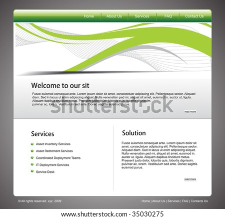 vector web template for more template of this type please visit my gallery