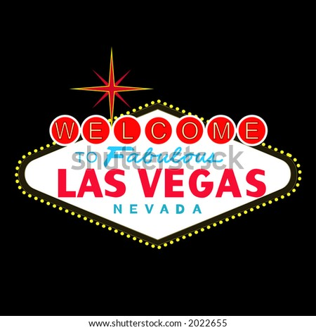 VECTOR: welcome to fabulous Las Vegas Nevada sign at night