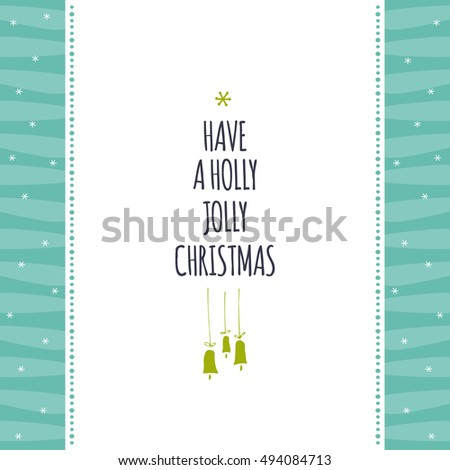 Vector Winter Holiday Card Template Christmas Stock Vector