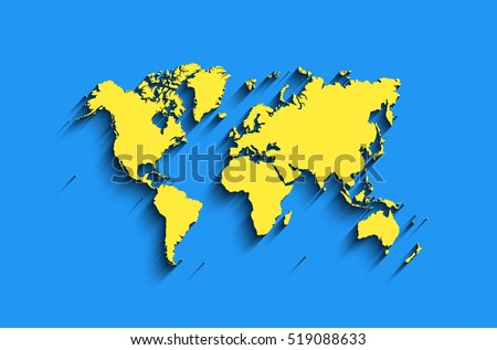 Vector map mexico drawing green marker vectores en stock 401267836 vector world map in blue yellow colors with shadow modern map background clear gumiabroncs Choice Image