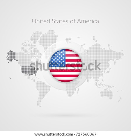 Vector World Map Infographic Symbol North Stock Vector - World map of the united states