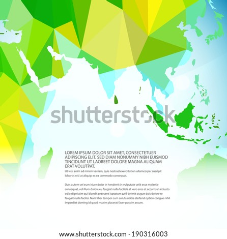 Vector world map triangle set stock vector 174608516 shutterstock vector world map triangle set part of map for your traveling bochure gumiabroncs Image collections