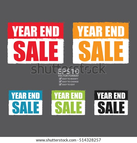 Vector : Year End Sale Infographics Sign or Icon