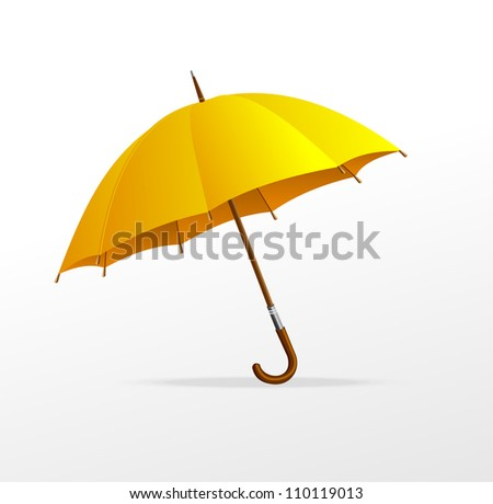 Vector yellow umbrella isolated