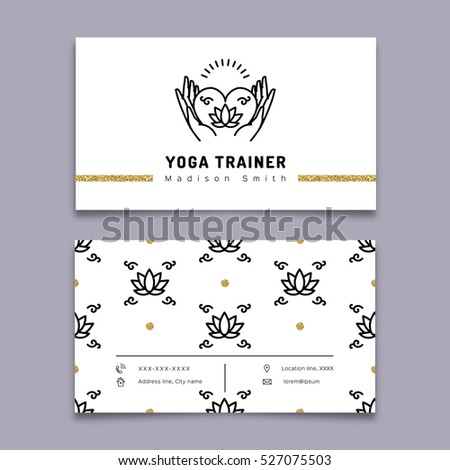 Vector Stone Therapy Business Card Template Vector 529784974 – Line Card Template