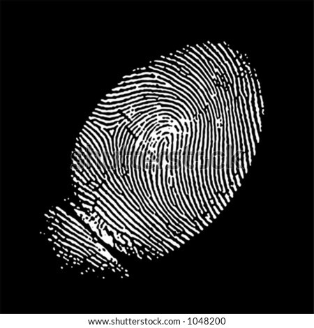 vectorized fingerprint in negative (the white part is transparent, you can change the color of the black part)