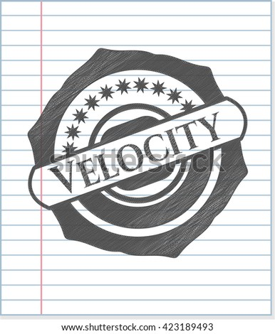 Velocity drawn with pencil strokes