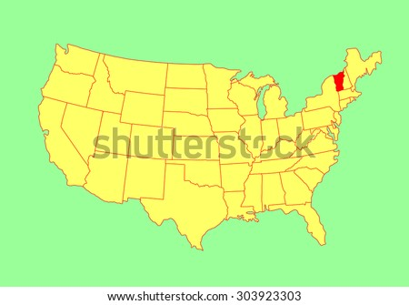Louisiana State Usa Vector Map Isolated Stock Vector - United states map vermont