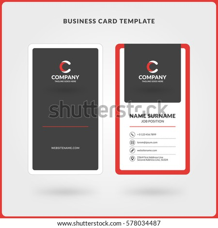 Double Sided Business Card Template Word