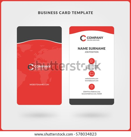 2 sided business card template