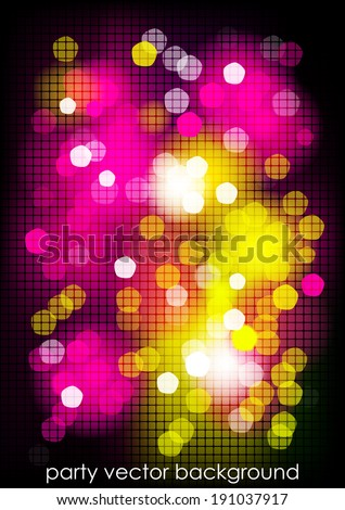 Vertical mosaic party background with graphic elements. Vector version.