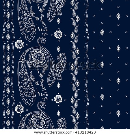 Vertical  seamless paisley pattern. Wrapping print. Floral ornament, for fabric, textile, cards, wrapping paper, wallpaper template.Ornamental border. Decorative motif. Vector illustration