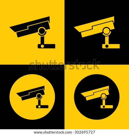 Very Useful CCTV Camera Icon For Web & Mobile. Eps-10.