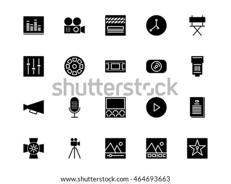 Video Production Icons Line Stock Vector 464693666 ...