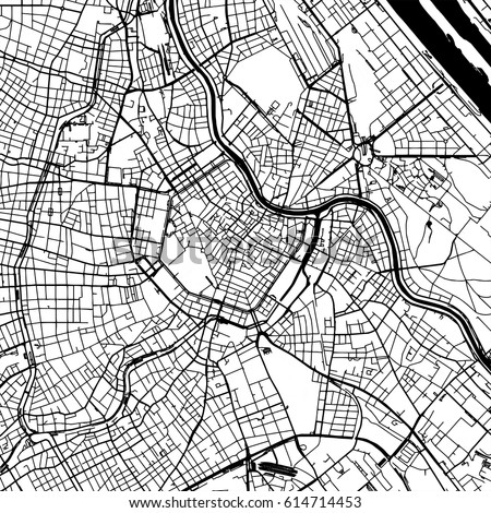 Black White Vector City Map Moscow Stock Vector 695323552 Shutterstock