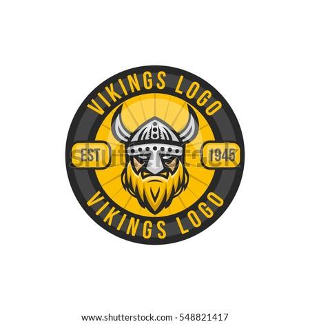 Viking Head Logo Design Stock Vector 548821120 - Shutterstock