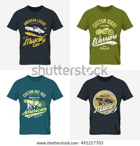 Vintage american furious cobra bikers club stock vector for Custom car club shirts