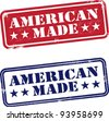 Vintage American Made Stamps - stock vector