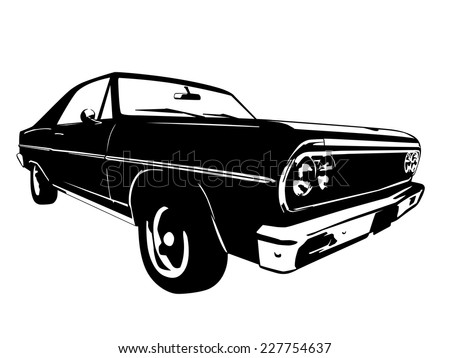 Vector Black Muscle Car Icon On Stock Vector Shutterstock