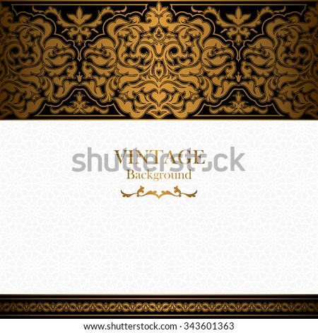 Vintage background, islamic style ornament, ornamental book cover with royal, invitation and greeting card with floral lace, ornate page cover, elegant pattern template, rich layout for design