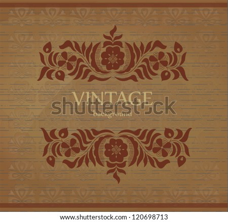 Vintage background with flower motif