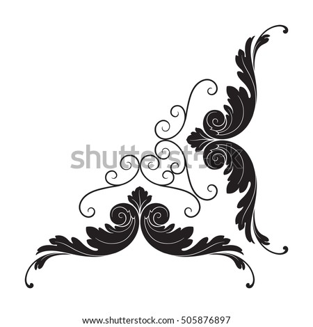 High definition vintage victorian curl swirl stock vector for Retro design definition