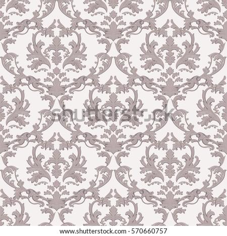 Vector Wallpaper Pattern Floral Motives Stock Vector 632358509 Shutterstock