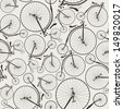 vintage bicycle seamless, wallpaper, eps8, no transparencies, ideal for prints - stock