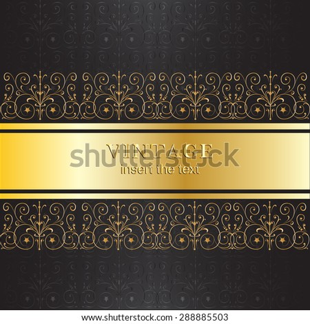 vintage black and gold invitation