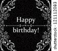 Vintage card. Happy birthday greetings. Vector Illustration - stock vector