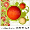 Vintage Christmas Card. Abstract web design bubble - stock photo