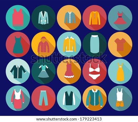 Vintage Clothing Icons - Illustration Department store clothing