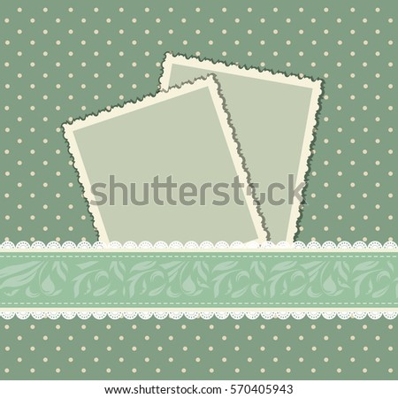 Grungy Vintage Scrapbook Set Old Paper Stock Vector