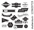 Vintage Design Elements. Labels In Retro And Vintage Style Isolated On White Background. Vector Illustration, Graphic Design.Lot Of Elements Useful For Design. Retro Vintage Styled Design.Logo Symbols - stock vector