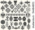 Vintage elements set - stock vector
