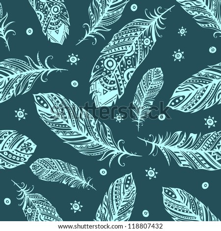 Vintage Feather pattern for your greeting card ot fabric print. Rating ...