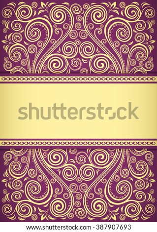 Vintage floral background.