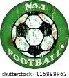 vintage football sign,design element, vector illustration, eps 10 - stock vector