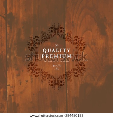 Vintage Frame for Luxury Logos, Restaurant, Hotel, Boutique or Business Identity. Royalty, Heraldic Design with Flourishes Elegant Design Elements. Vector Illustration Template