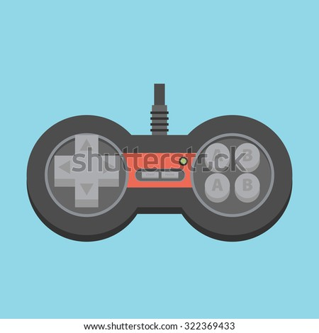 Vintage Game Joystick. Vector Gamepad Icon