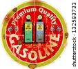vintage gas sign,vector illustration - stock photo
