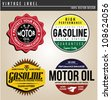 Vintage Gasoline - stock vector