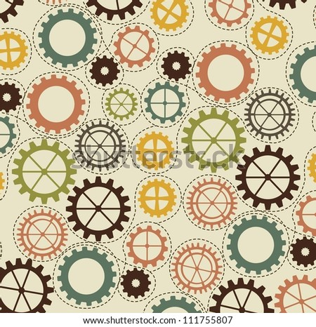 vintage gears over beige background. vector illustration