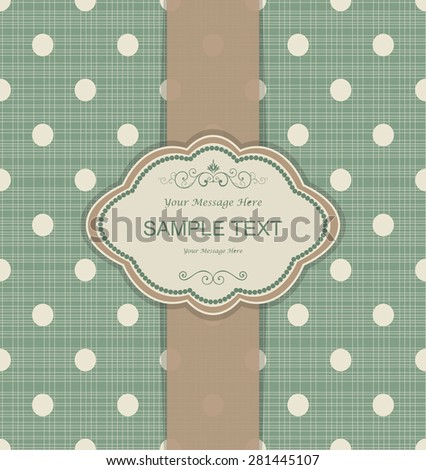 vintage invitation card with dots