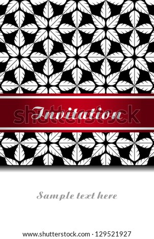 Vintage invitation, greeting card with ornaments