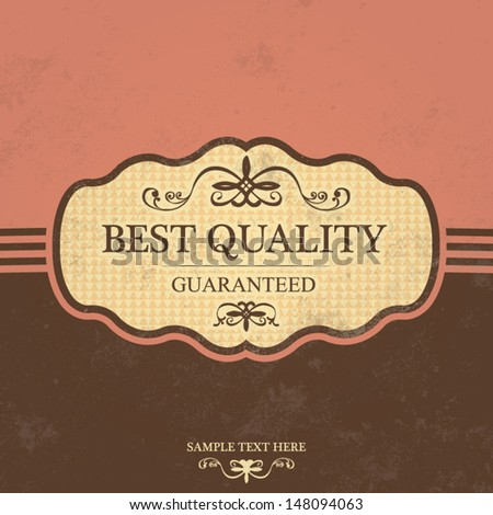 Vintage Label Design with Retro Background