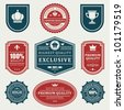 Vintage labels set. Vector design elements. - stock vector